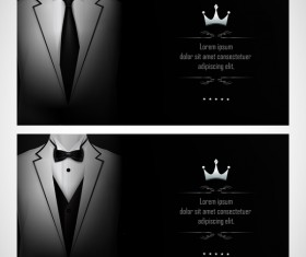 Business elite cards template vector 04