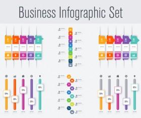 Business infographic set vectors 13