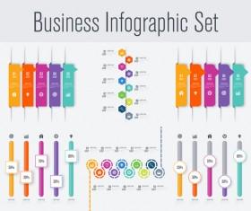 Business infographic set vectors 14