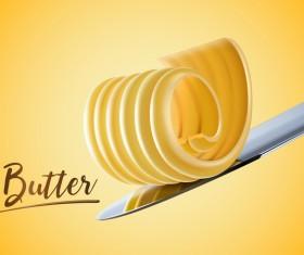 Butter illustration vector material 01