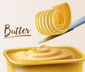 Butter illustration vector material 02