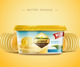 Butter package poster vector 01