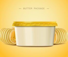 Butter package poster vector 02