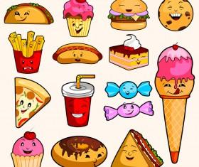 Cartoon sweet food vector