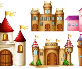 Castles template vector material 01