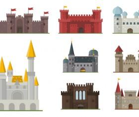 Castles template vector material 03