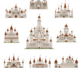 Castles template vector material 04