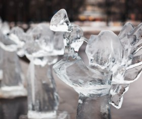 Character ice sculpture Stock Photo 01