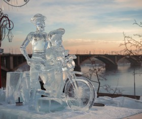 Character ice sculpture Stock Photo 02