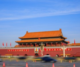 China Beijing landmark majestic Tiananmen Square Stock Photo