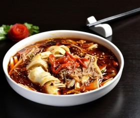 China delicious spicy Sichuan cuisine Stock Photo 01