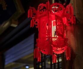 China red festive lantern Stock Photo