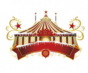 Christmas circus border vector