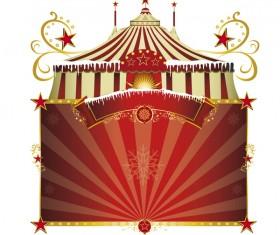 Christmas circus vector