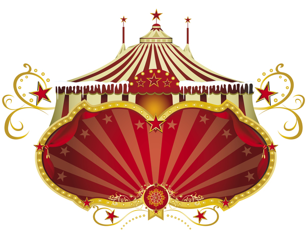 Christmas sign circus vector