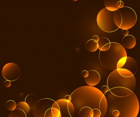 Circles gold abstract background vector