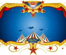 Circus night frame vector