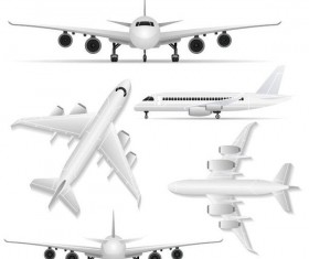 Civil aircraft vector illustration 01