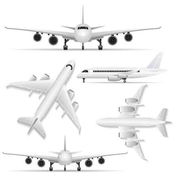 Civil aircraft vector illustration 01