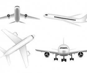 Civil aircraft vector illustration 02