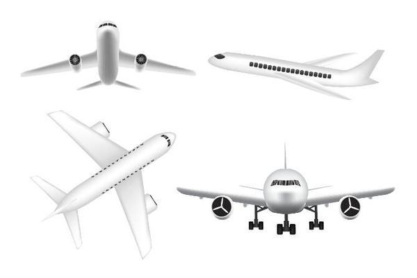 Civil aircraft vector illustration 02
