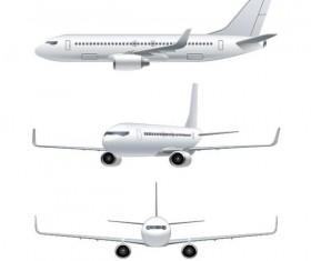 Civil aircraft vector illustration 03