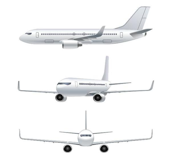 Civil aircraft vector illustration 03