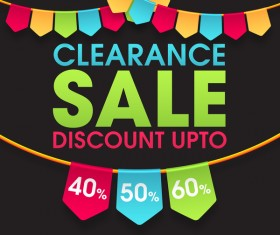 Clearance discount upto sale background vector