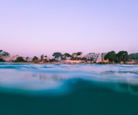 Closeup sea water ripples Stock Photo