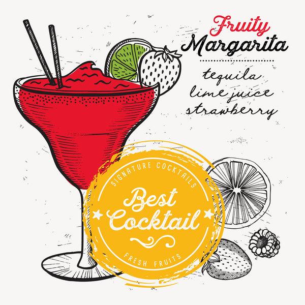 Cocktail With Drink Menu Template Design Vector Free Download - Beverage menu template