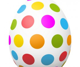 Colored dot with easter egg vector 01
