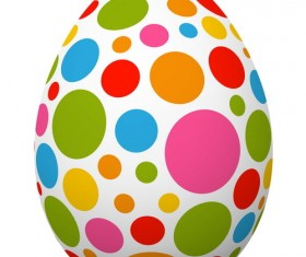 Colored dot with easter egg vector 02