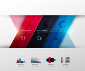 Colored modern infographic template vectors 01