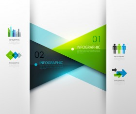 Colored modern infographic template vectors 04