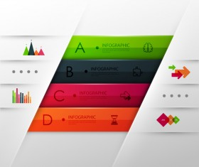 Colored modern infographic template vectors 06