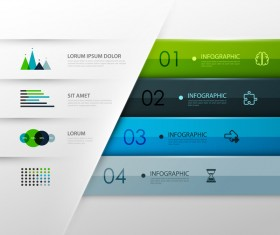 Colored modern infographic template vectors 07