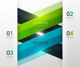 Colored modern infographic template vectors 08