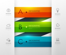 Colored modern infographic template vectors 09