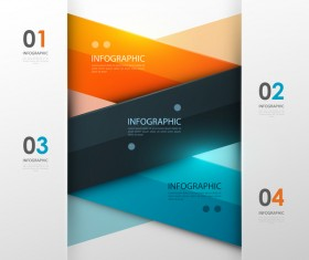 Colored modern infographic template vectors 11