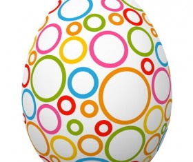 Colored ring with easter egg vector