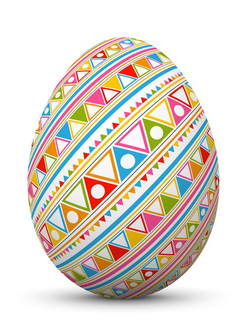 Colored seamless pattern with easter egg vector