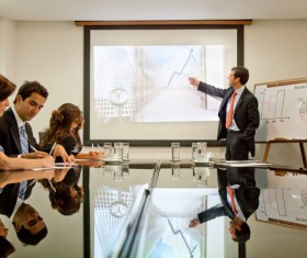 Commercial Market Share Conference Stock Photo 02