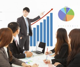 Commercial Market Share Conference Stock Photo 05