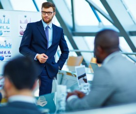 Commercial Market Share Conference Stock Photo 10