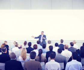 Company Annual Meeting Stock Photo
