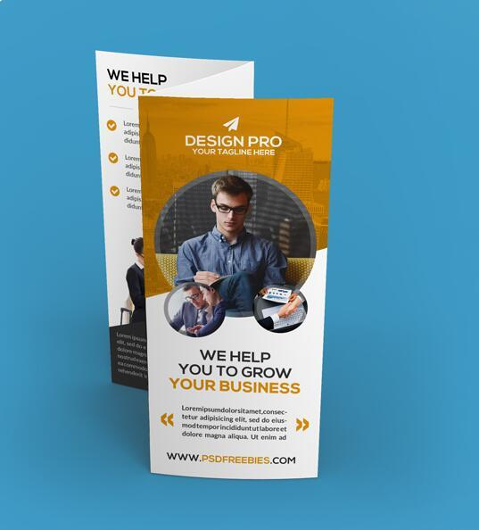 Company Trifold Brochure PSD Template