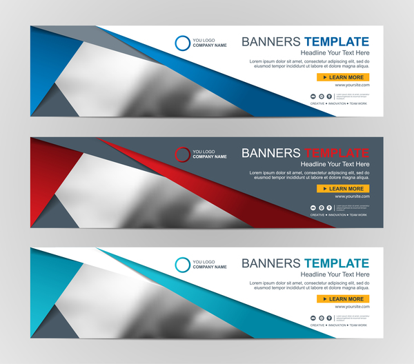 company banners template creative vectors 05 vector banner free download. Black Bedroom Furniture Sets. Home Design Ideas