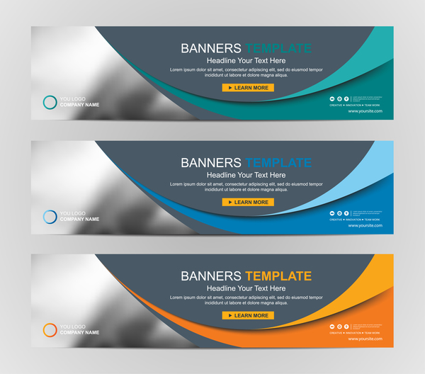 company banners template creative vectors 11 free download