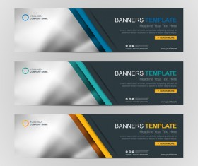 Company banners template creative vectors 12