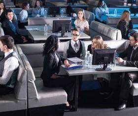 Company employees Stock Photo